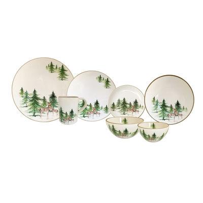 "Abbiamo Tutto ""Woodlands"" Ceramic Dinnerware from Italy"