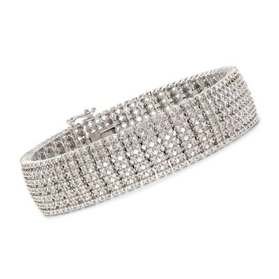 3.00 ct. t.w. Diamond Bracelet in Sterling Silver, , default