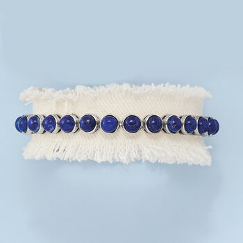 Lapis Tennis Bracelet in Sterling Silver