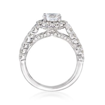 1.20 ct. t.w. Diamond Engagement Ring Setting in 14kt White Gold, , default