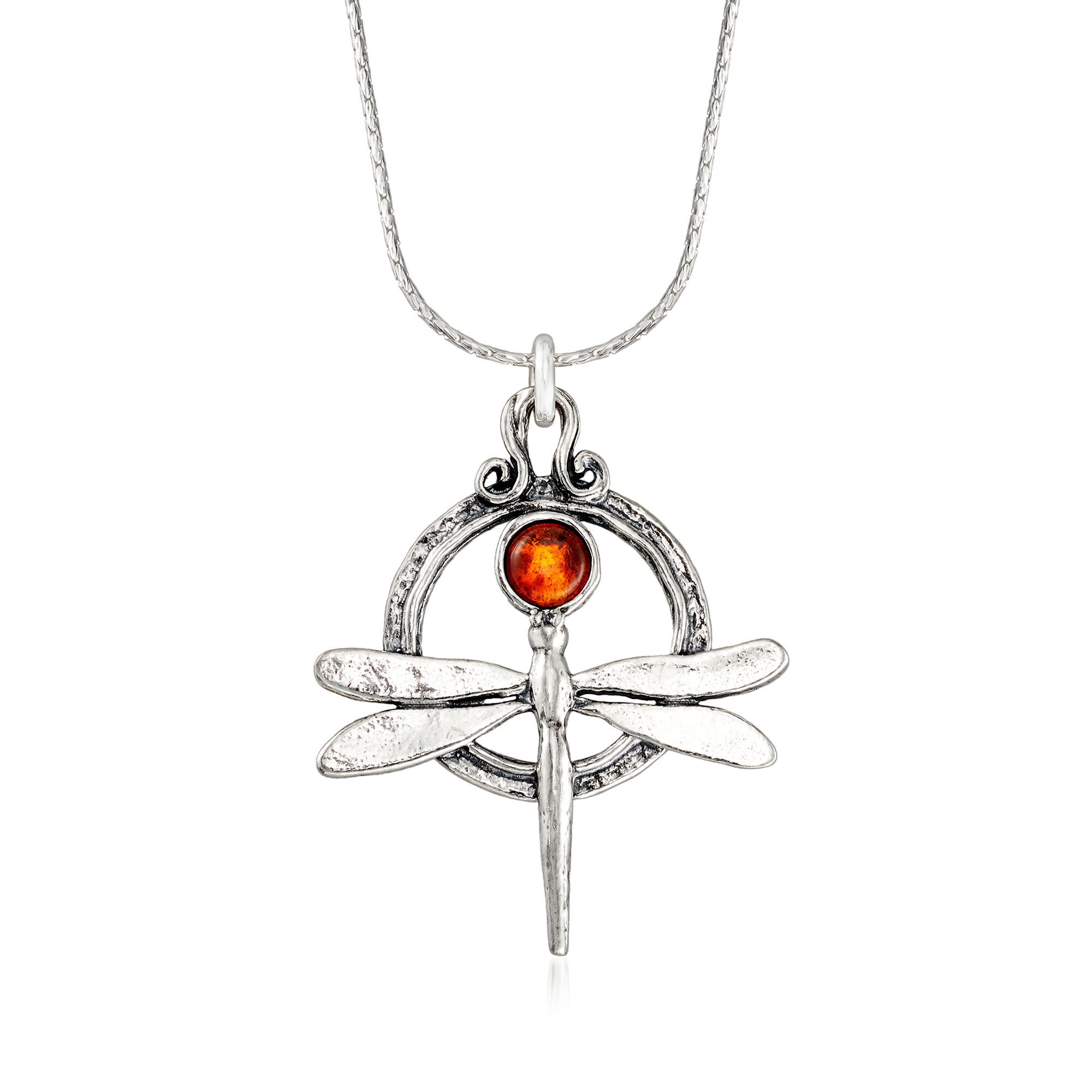 Sterling Silver Polished Dragonfly Pendant