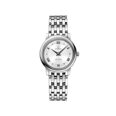 Omega De Ville Prestige Women's 27mm Stainless Steel Watch with White Dial, , default