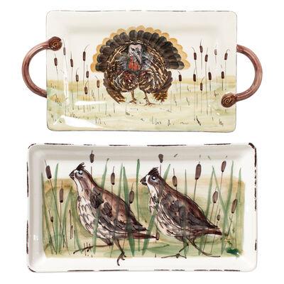 "Vietri ""Wildlife"" Rectangular Platter from Italy"