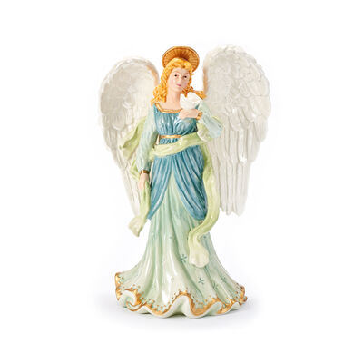 "Fitz and Floyd ""White House"" Angel with Dove Figurine , , default"