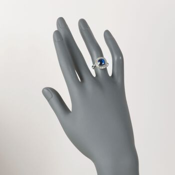C. 1990 Vintage 3.85 Carat Sapphire and .45 ct. t.w. Diamond Ring in Platinum. Size 6.25, , default