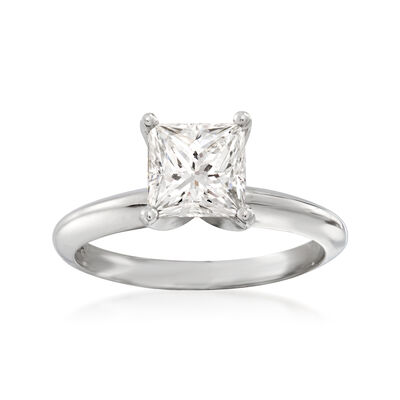 1.73 Carat Certified Diamond Solitaire Ring in Platinum