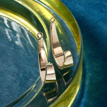 "14kt Yellow Gold J-Hoop Earring Jackets. 3/4"", , default"