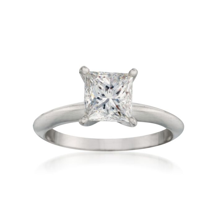 1.50 Carat Certified Diamond Solitaire Engagement Ring in 18kt White Gold, , default