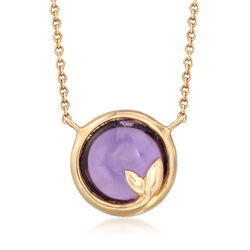 """C. 1990 Vintage Tiffany Jewelry 2.00 Carat Amethyst Necklace in 18kt Yellow Gold. 20"""", , default"""