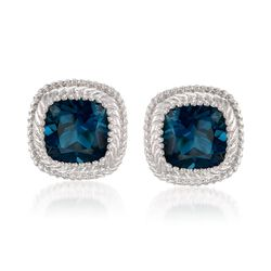 10.00 ct. t.w. London Blue Topaz Earrings in Sterling Silver, , default