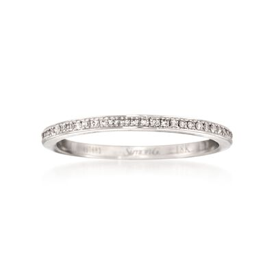 Simon G. .25 ct. t.w. Diamond Eternity Wedding Ring in 18kt White Gold, , default