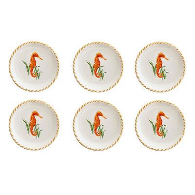 Abbiamo Tutto Seahorse Set of 4 Small Ceramic Plates from Italy