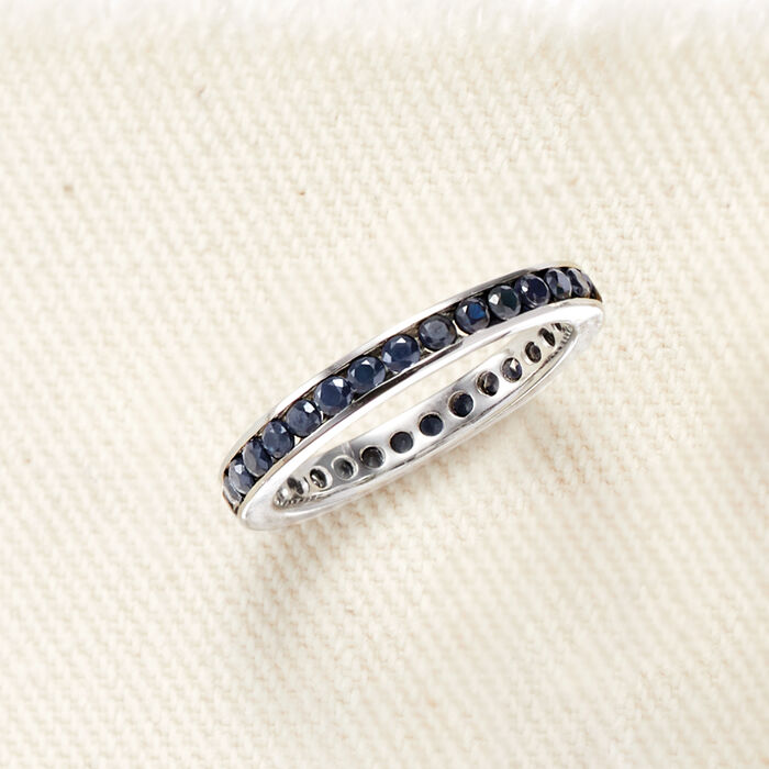 1.30 ct. t.w. Sapphire Eternity Band in Sterling Silver