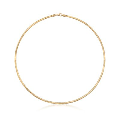 Italian 18kt Yellow Gold Woven Necklace, , default