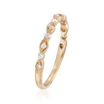 Henri Daussi .20 ct. t.w. Diamond Wedding Ring in 18kt Yellow Gold, , default