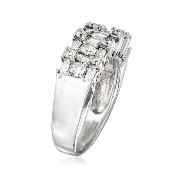 C. 1990 Vintage Le Vian 1.00 ct. t.w. Diamond Ring in 18kt White Gold