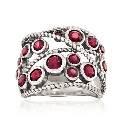 1.70 ct. t.w. Garnet Ring in Sterling Silver, , default