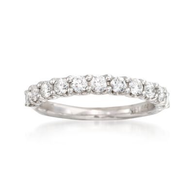 .74 ct. t.w. Diamond Wedding Ring in 14kt White Gold