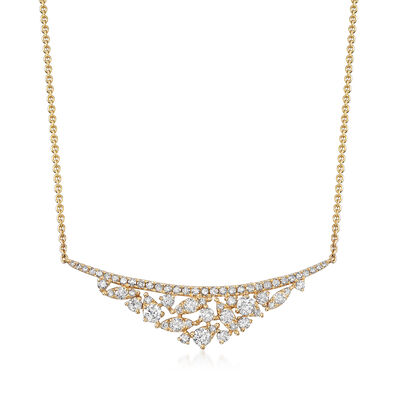 .77 ct. t.w. Diamond Bib Necklace in 18kt Yellow Gold