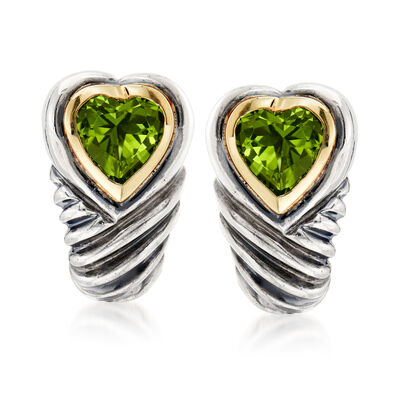 C. 2000 Vintage David Yurman 3.50 ct. t.w. Peridot Earrings in Sterling Silver with 14kt Yellow Gold, , default