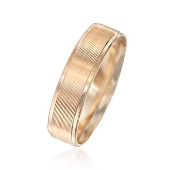 Men's 6mm 14kt Yellow Gold Wedding Ring. Size 10