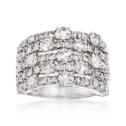 3.00 ct. t.w. Diamond Five-Row Ring in 14kt White Gold, , default