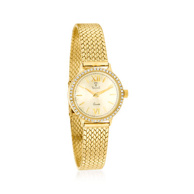 Vicence Women's 23mm .25 ct. t.w. Diamond Watch in 14kt Yellow Gold