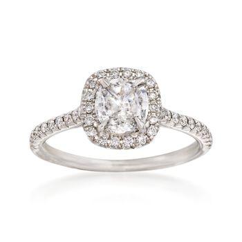 Henri Daussi 1.19 ct. t.w. Diamond Engagement Ring in 18kt White Gold, , default
