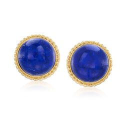 Lapis Circle Earrings in 18kt Gold Over Sterling, , default