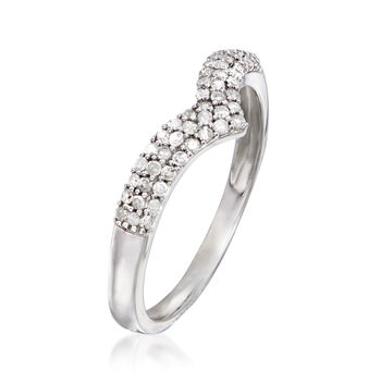 .25 ct. t.w. Diamond Chevron Ring in Sterling Silver, , default