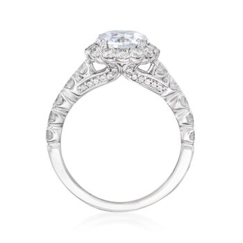 1.05 ct. t.w. Diamond Engagement Ring Setting in 14kt White Gold