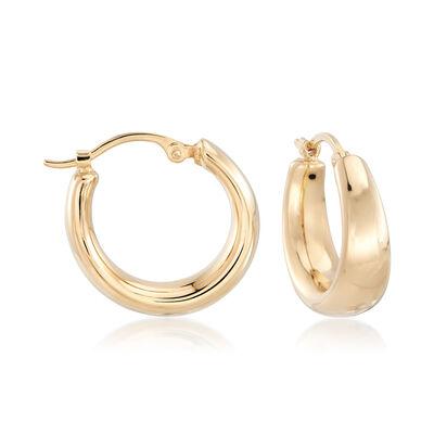 14kt Yellow Gold Small Hoop Earrings, , default