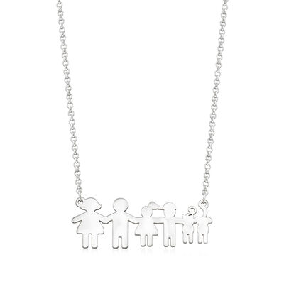 Sterling Silver Build-A-Family Personalized Necklace, , default