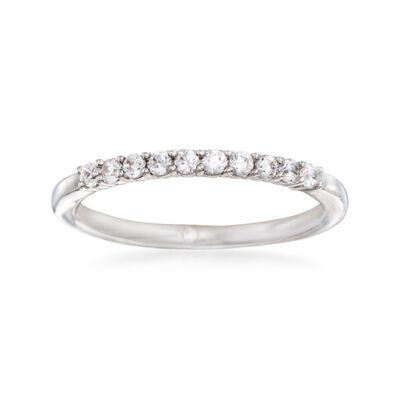Gabriel Designs .22 ct. t.w. Diamond Wedding Ring in 14kt White Gold
