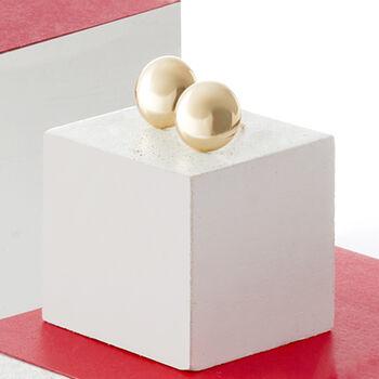 14kt Yellow Gold Button Stud Earrings, , default