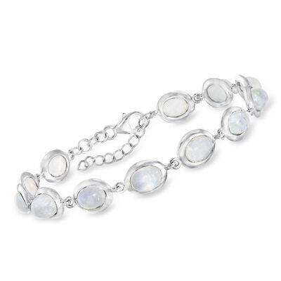 Moonstone Bracelet in Sterling Silver