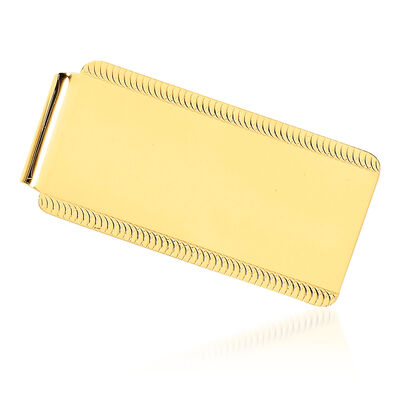 14kt Yellow Gold Polished Engravable Money Clip, , default