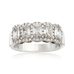 Henri Daussi 1.43 ct. t.w. Diamond Five-Stone Ring in 18kt White Gold, , default