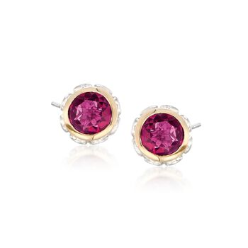2.20 ct. t.w. Mystic Berry Quartz Stud Earrings in 14kt Gold and Sterling Silver, , default