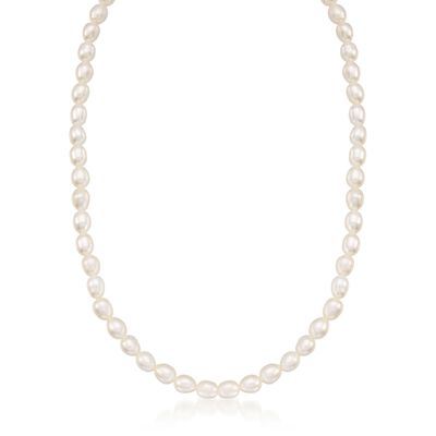 Child's 4-4.5mm Cultured Pearl Necklace With 14kt Yellow Gold, , default