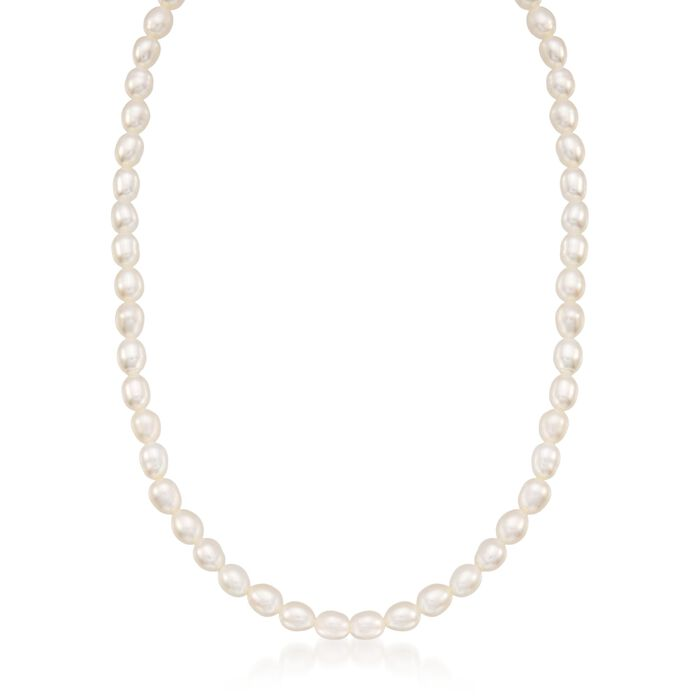 "Child's 4-4.5mm Cultured Pearl Necklace with 14kt Yellow Gold. 13"", , default"