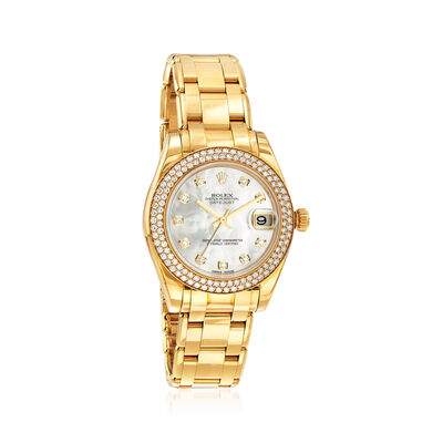 Pre-Owned Rolex Pearlmaster Women's 34mm Automatic 18kt Yellow Gold Watch, , default