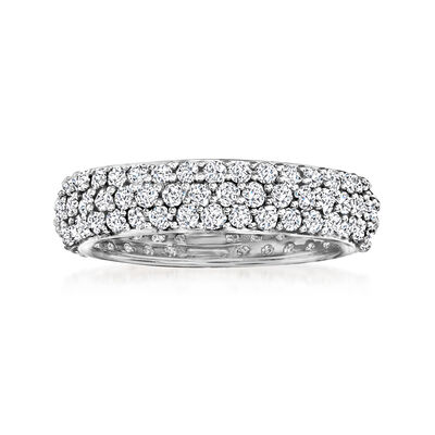 2.00 ct. t.w. Pave Diamond Eternity Band in 14kt White Gold