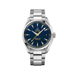 Omega Limited Edition Spectre James Bond Seamaster Aqua Terra Men's 41.5mm Stainless Steel Watch With Blue and Yellow Dial , , default