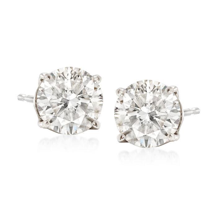 2.00 ct. t.w. Diamond Stud Earrings in 18kt White Gold