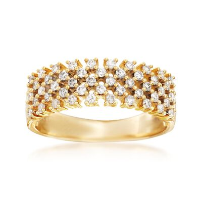 .50 ct. t.w. Diamond Open Checkerboard Ring in 14kt Yellow Gold, , default