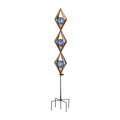 "Regal Blue ""Triple Diamond"" Outdoor Decorative Solar Garden Stake, , default"