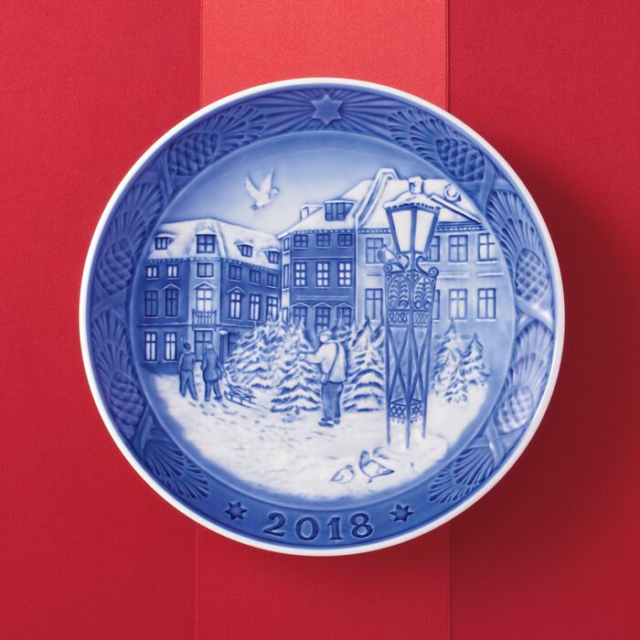 Royal Copenhagen 2018 Annual Porcelain Christmas Plate - 111th Edition