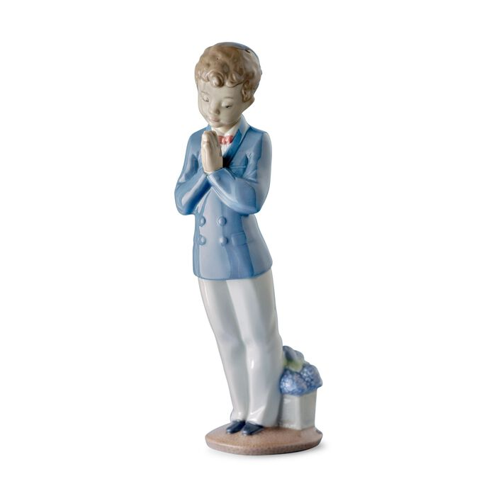 """Nao """"A Time to Pray"""" First Communion Porcelain Figurine, , default"""