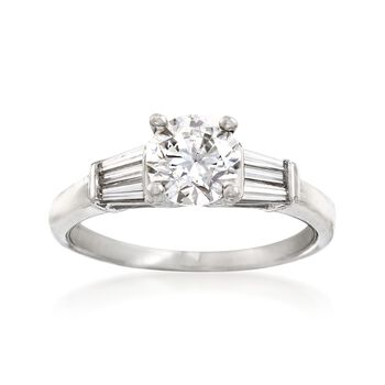 1.33 ct. t.w. Diamond Engagement Ring in Platinum. Size 6, , default